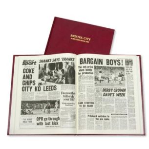Bristol City Football Newspaper Book