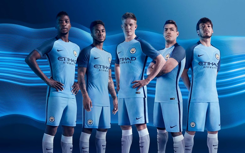 Manchester City Unveil 2016/17 Home Kits