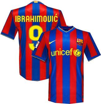 detailed look 619fa dcebf barcelona: custum zlatan ibrahimovic