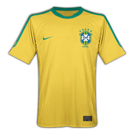 2010-11 Brazil Nike World Cup Home Shirt
