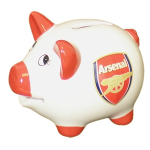 Arsenal FC Piggy Bank Money Box