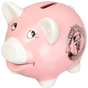 Manchester United FC Pink Piggy Bank