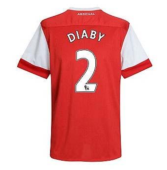 201011 Arsenal Nike Short Sleeve Home Shirt (Diaby 2)  Kids