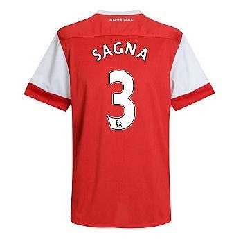 201011 Arsenal Nike Short Sleeve Home Shirt (Sagna 3)  Kids
