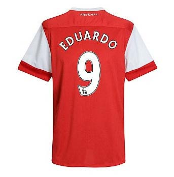 201011 Arsenal Nike Short Sleeve Home Shirt (Eduardo 9)  Kids