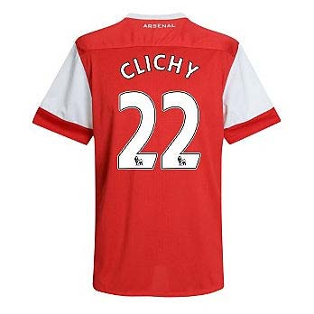 201011 Arsenal Nike Short Sleeve Home Shirt (Clichy 22)  Kids