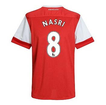 201011 Arsenal Nike Short Sleeve Home Shirt (Nasri 8)  Kids