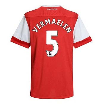2010-11 Arsenal Nike Short Sleeve Home Shirt (Vermaelen 5)