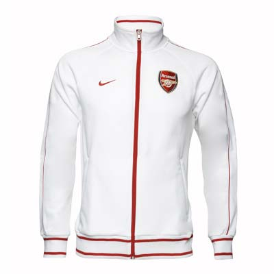 2010 11 Arsenal Nike Trainer Track Jacket (White)