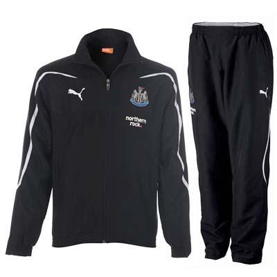 2010-11 Newcastle Puma Woven Tracksuit (Black)