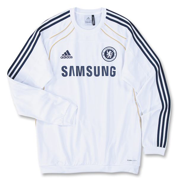 2010 11 Chelsea Adidas Sweat Top (White)