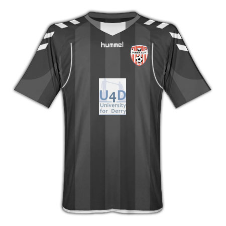 201011 Derry City Away Hummel Football Shirt