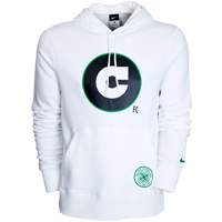 2010 11 Celtic Nike Hooded Top (White)