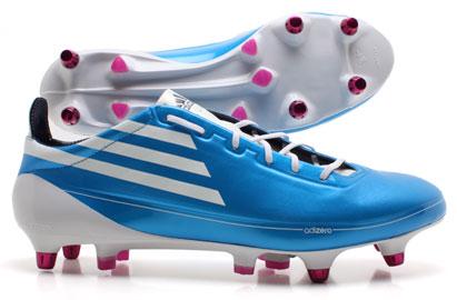 adidas f50 adizero football boots - white/pink/cyan