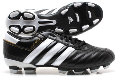 AdiNOVA II TRX FG Football Boots Kids Black/White/Gold