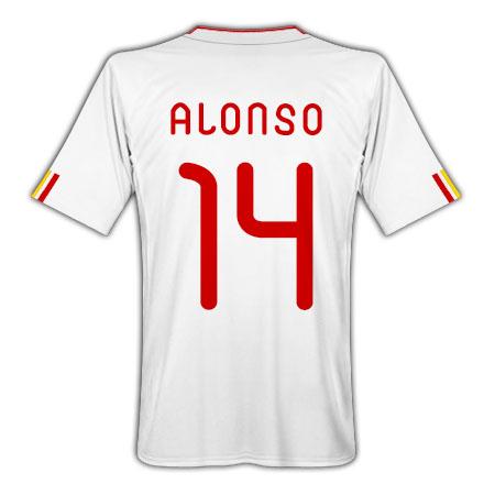2011-12 Spain Away Football Shirt (Alonso 14)