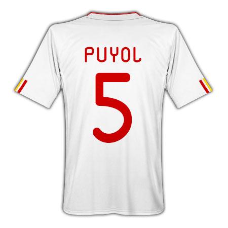 2011-12 Spain Away Football Shirt (Puyol 5)