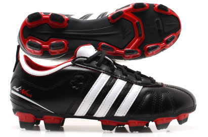 AdiNova IV TRX FG Kids Football Boots Black/ White/ Scarlet