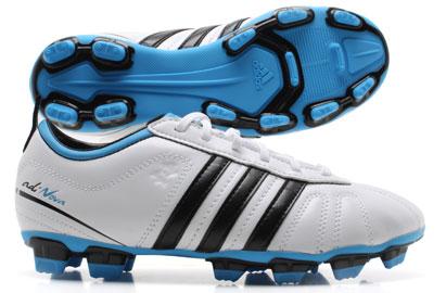 AdiNova IV TRX FG Kids Football Boots White/Black/Fresh Splash
