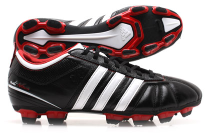 AdiNova IV TRX FG Football Boot Black/ White/ Scarlet