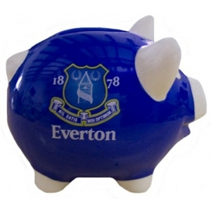 Everton FC Piggy Bank Money Box (Blue)