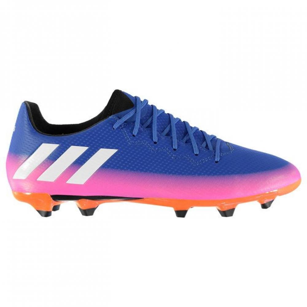 Adidas Messi 16.3 FG Mens Football Boots (Blue-Pink)