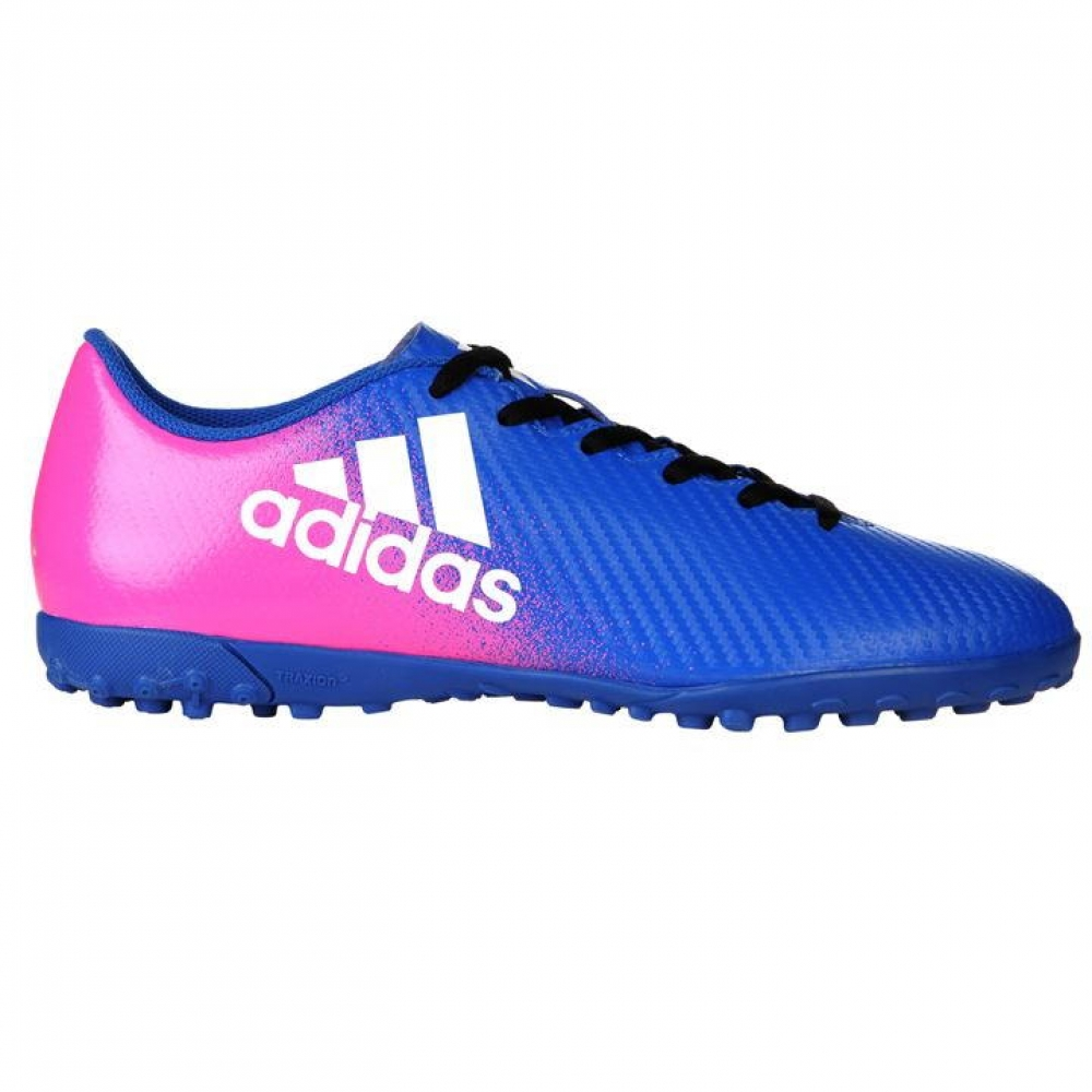 Adidas X 16.4 Mens Astro Turf Trainers (BluePink)