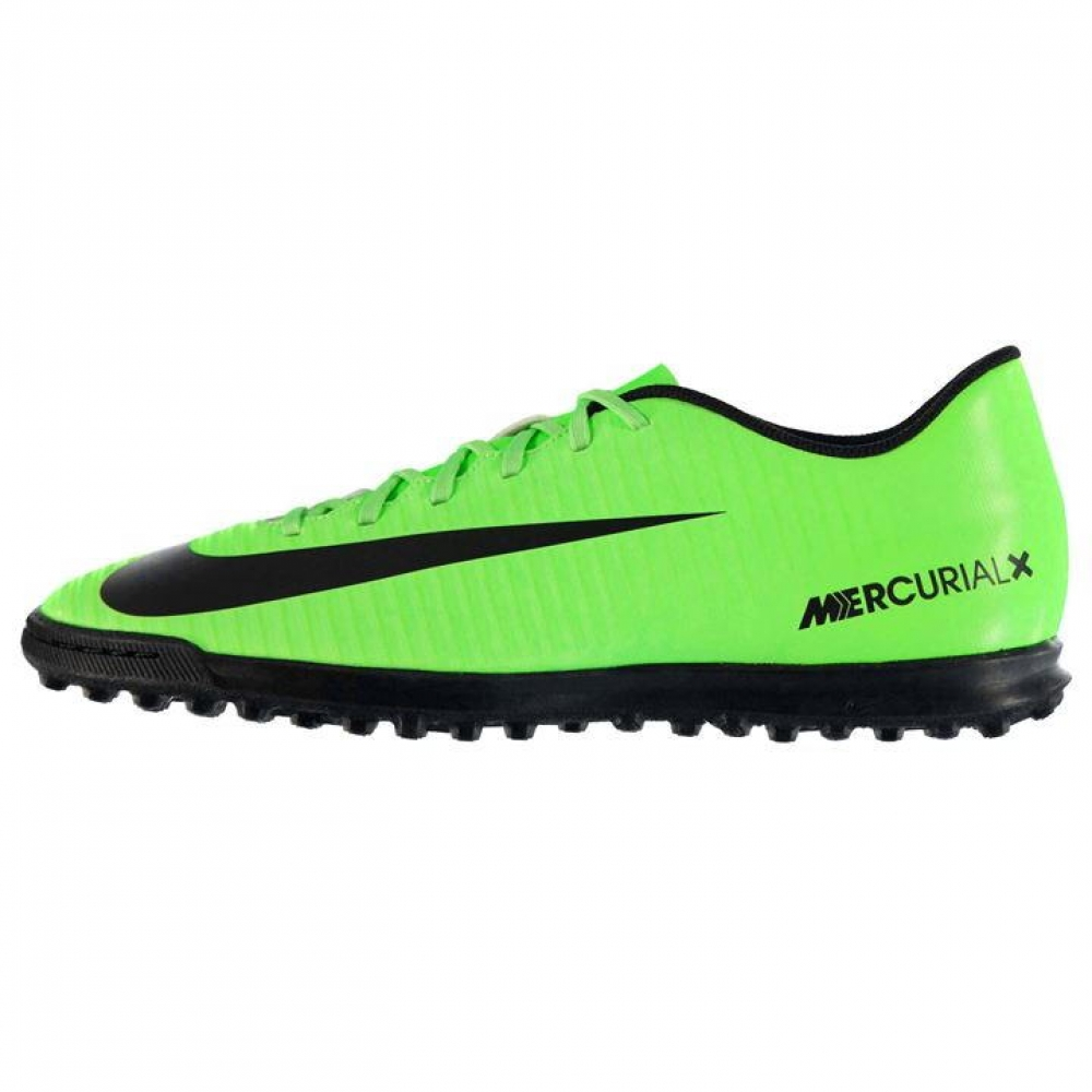 Nike Mercurial Vortex Mens Astro Turf Trainers (GreenBlack)