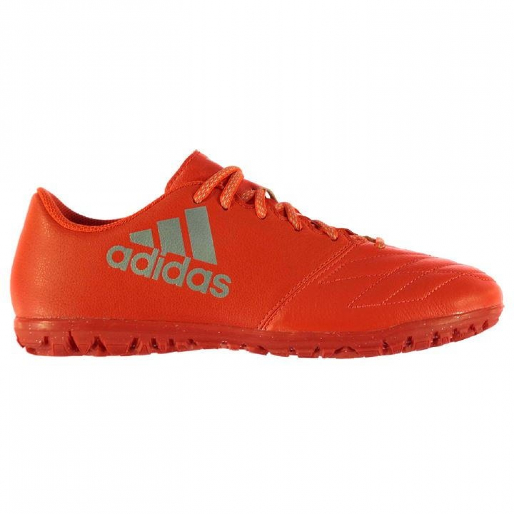 Adidas X 16.3 Leather Mens Astro Turf Trainers (Solar Red)