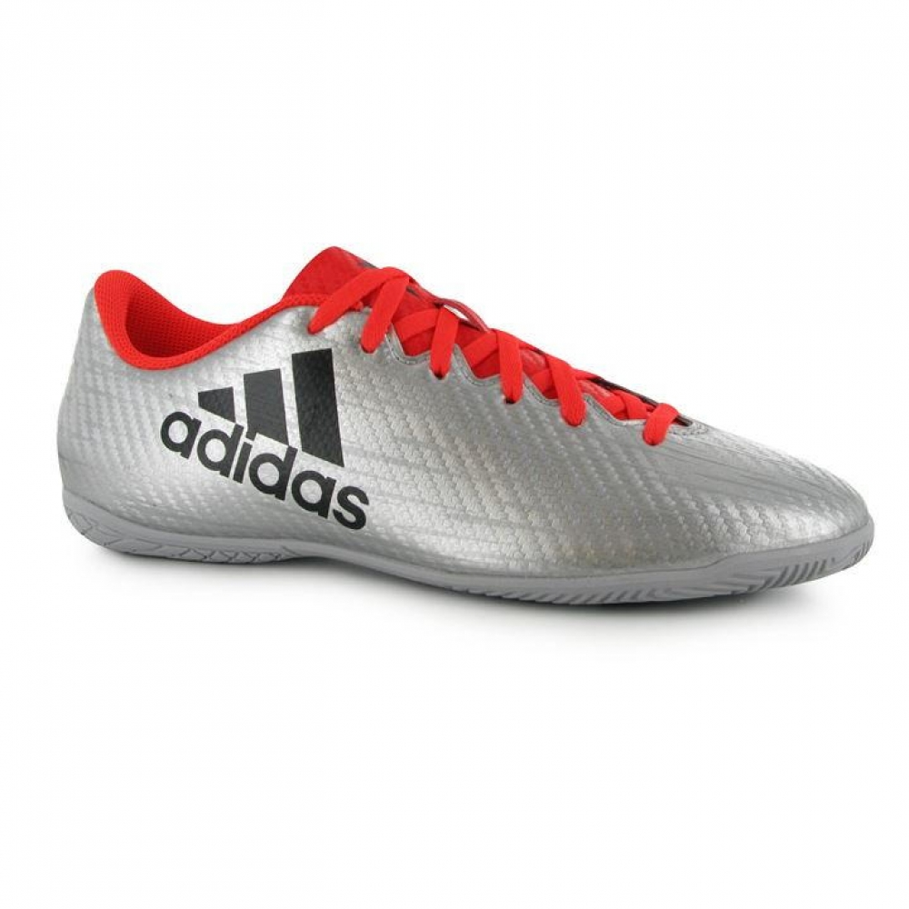 Adidas X 16.4 Mens Indoor Court Trainers (SilverSolar Red)