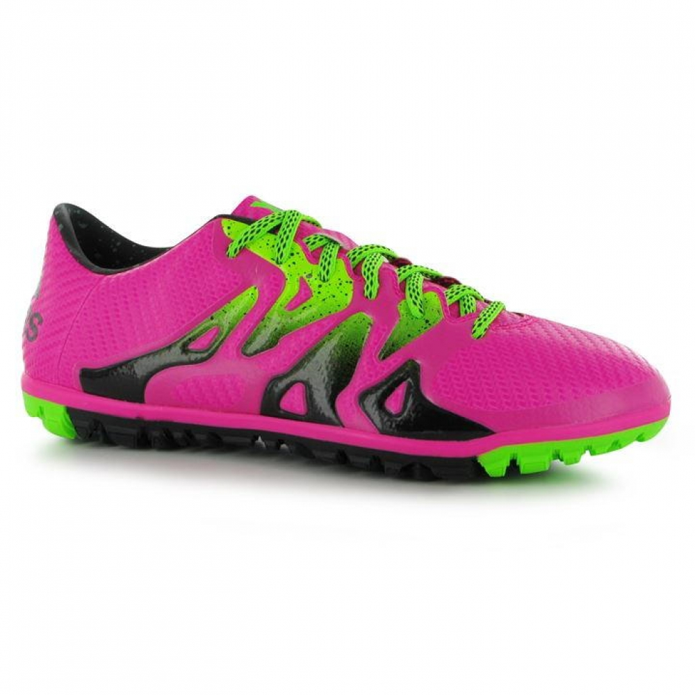 Adidas X 15.3 Mens Astro Turf Trainers (Shock Pink)