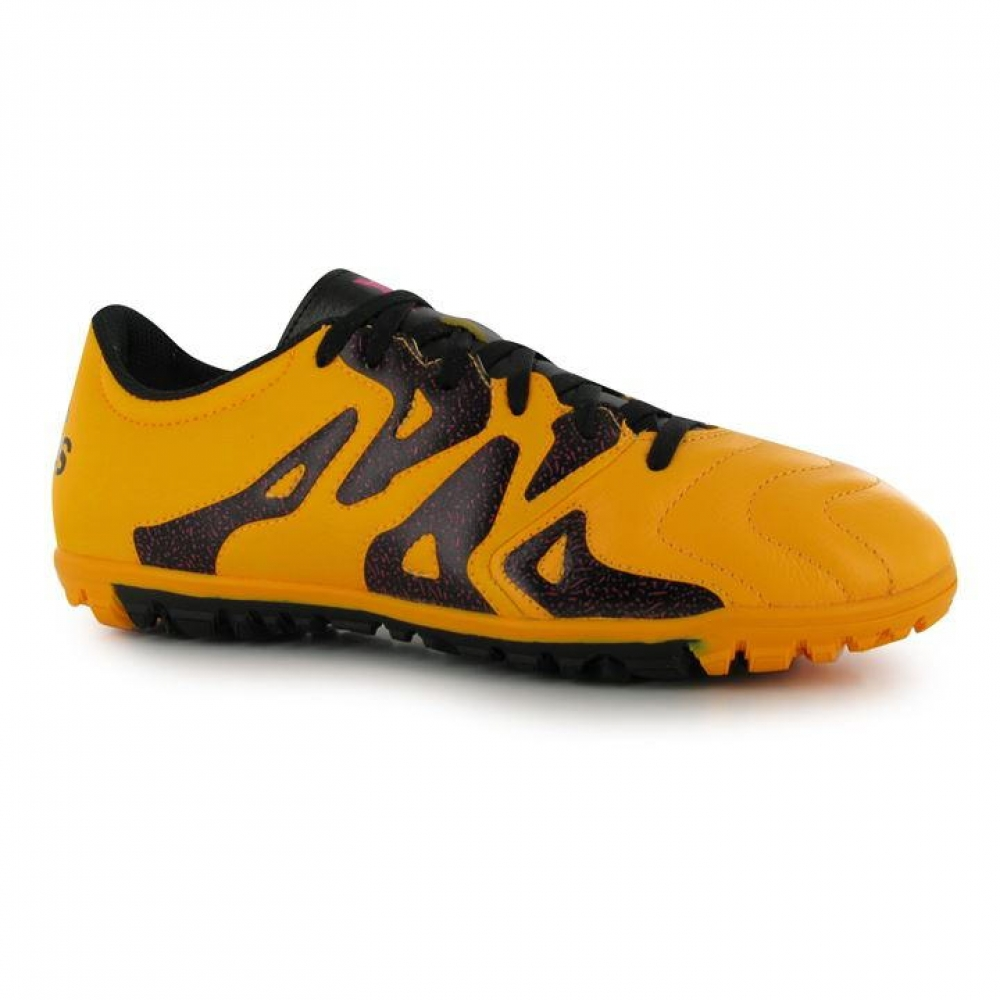 Adidas X 15.3 Leather  Mens Astro Turf Trainers (Solar Gold)