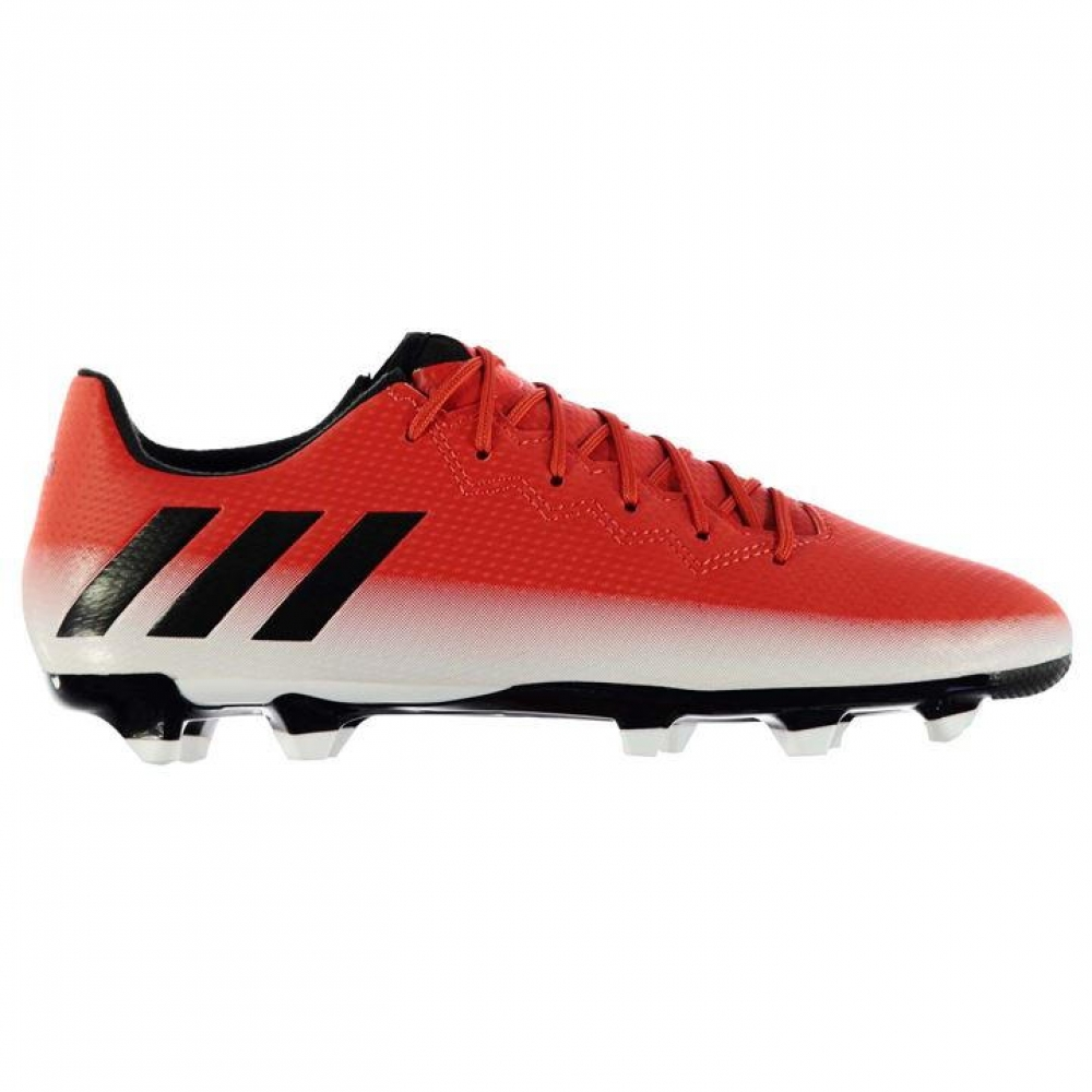 Adidas Messi 16.3 FG Mens Football Boots (Red-White)