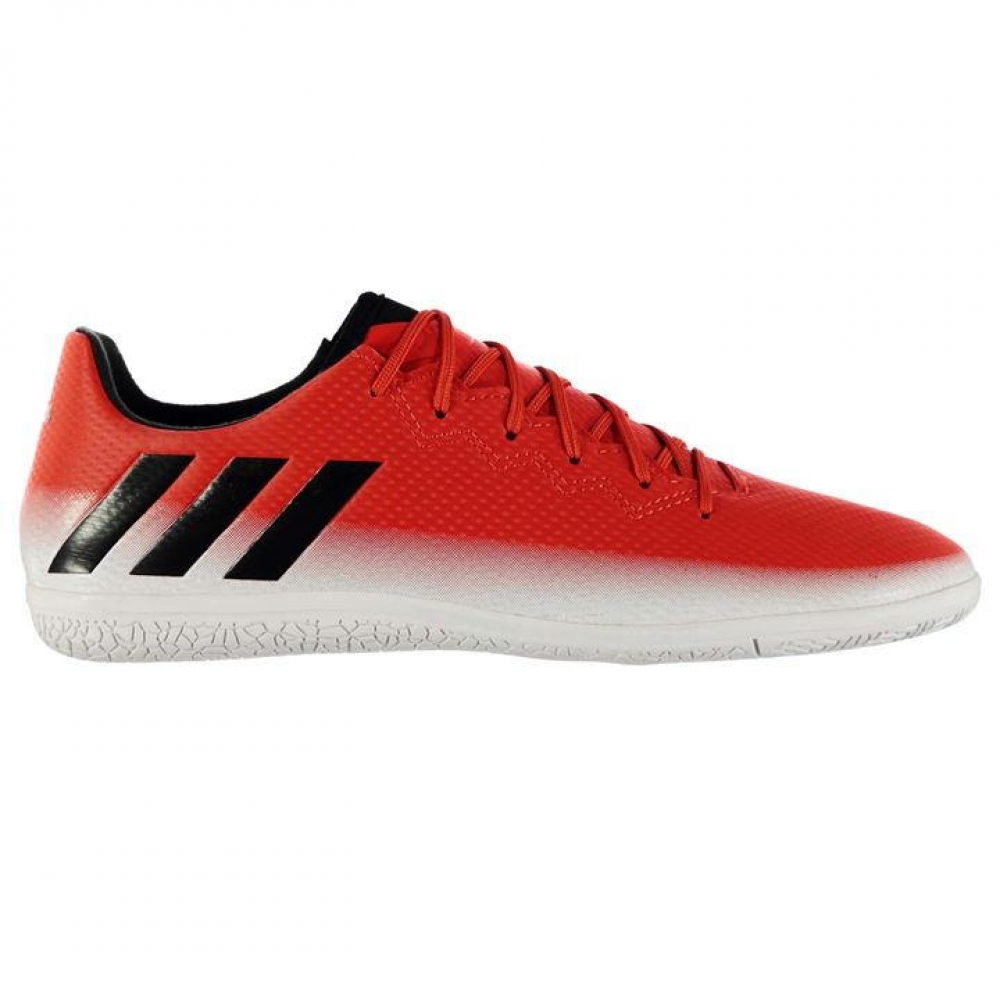 Adidas Messi 16.3 Mens Indoor Court Trainers (Red-White)
