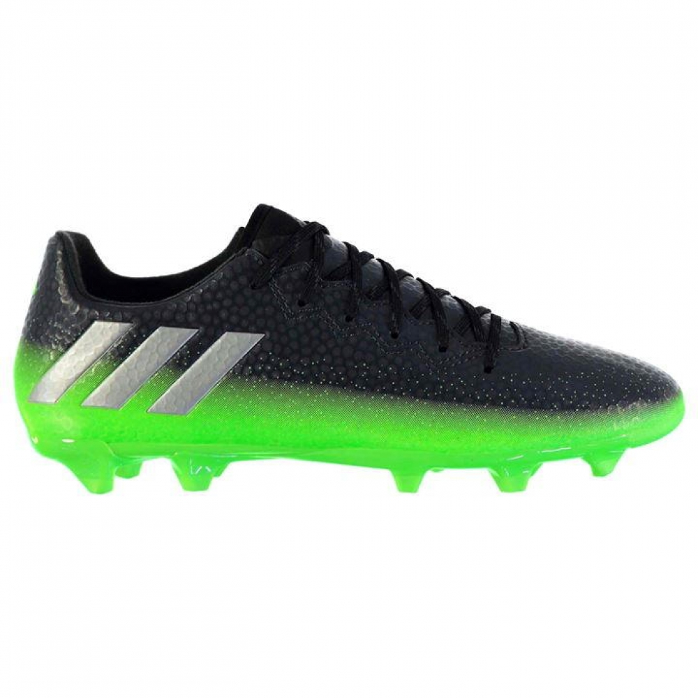 Adidas Messi 16.3 FG Mens Football Boots (Dark Grey-Soul Green)