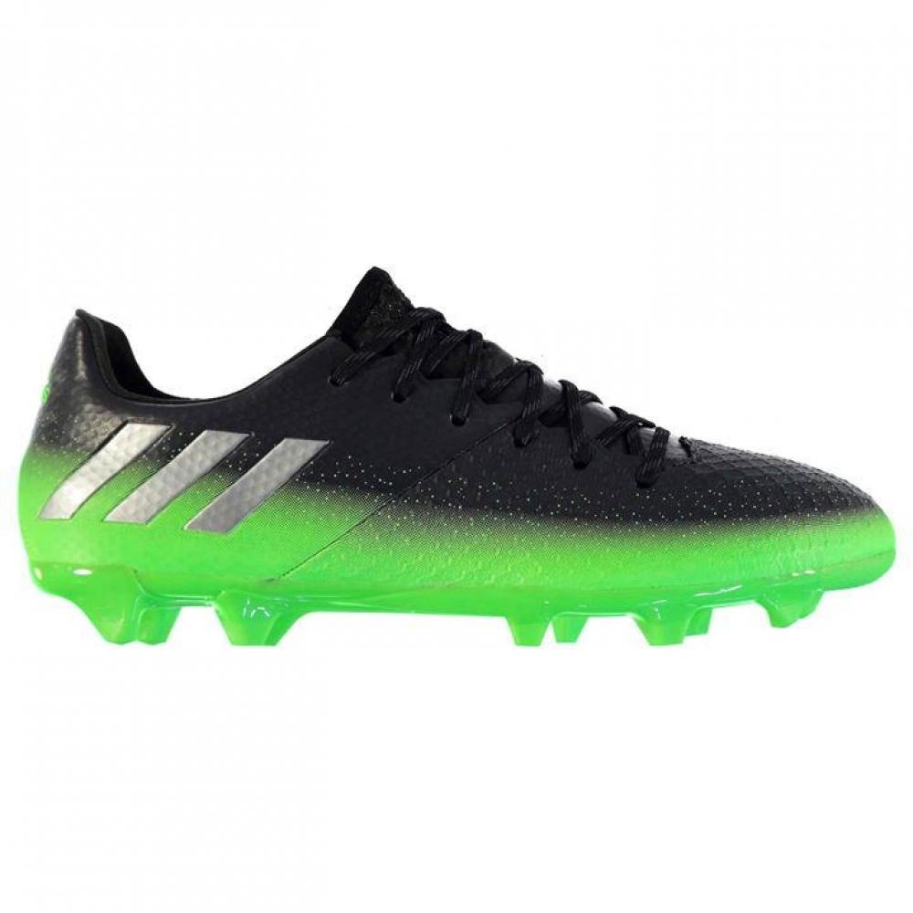 Adidas Messi 16.2 FG Mens Football Boots (Dark Grey-Soul Green)