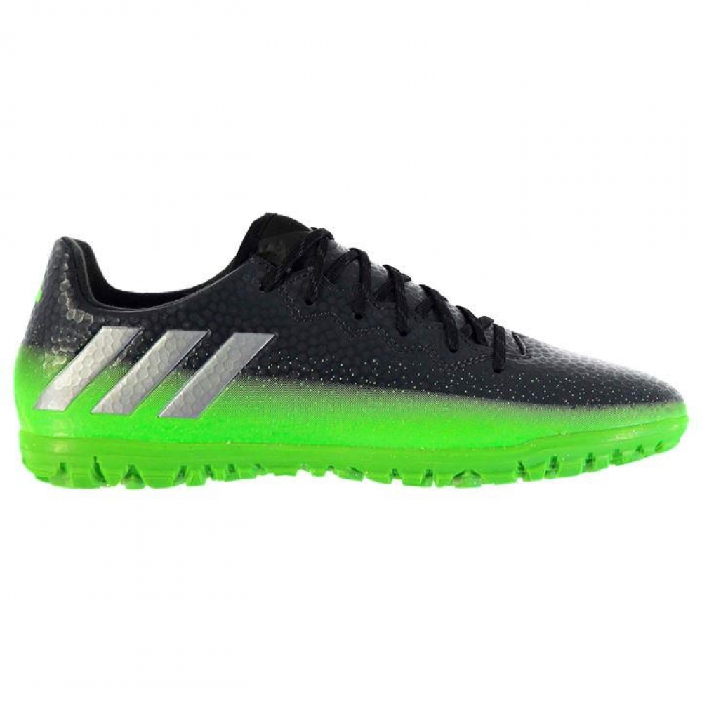 Adidas Messi 16.3 Mens Astro Turf Trainers (Dark GreySoul Green)