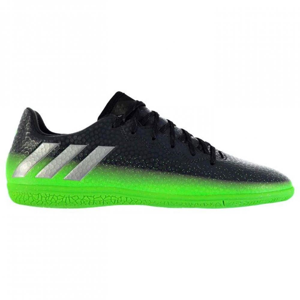 Adidas Messi 16.3 Mens Indoor Court Trainers (Dark Grey-Soul Green)