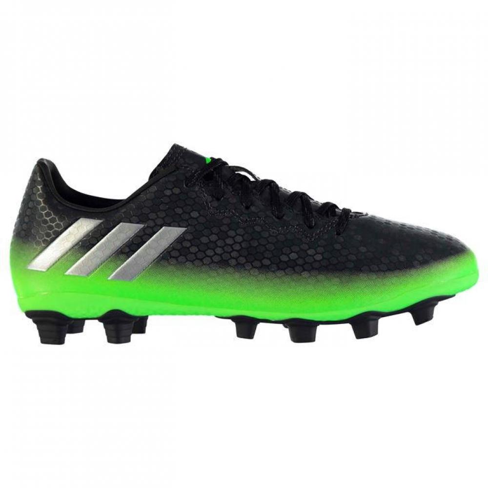 Adidas Messi 16.4 FG Mens Football Boots (Dark Grey-Soul Green)