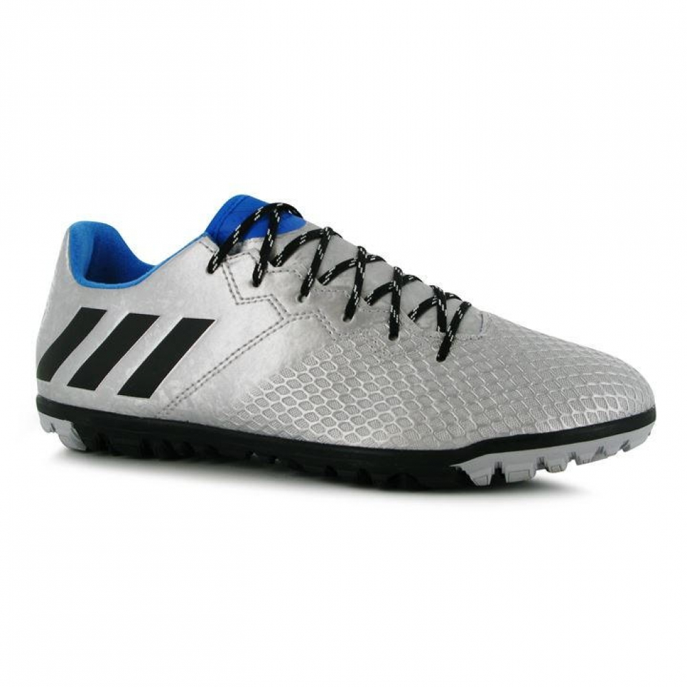 Adidas Messi 16.3 Mens Astro Turf Trainers (Silver-Black)