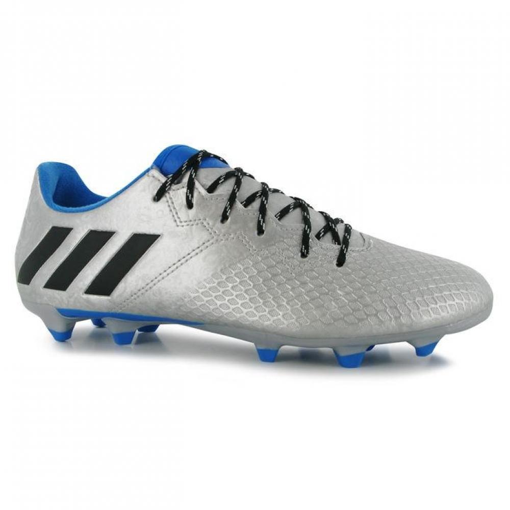 Adidas Messi 16.3 FG Mens Football Boots (Silver-Black)