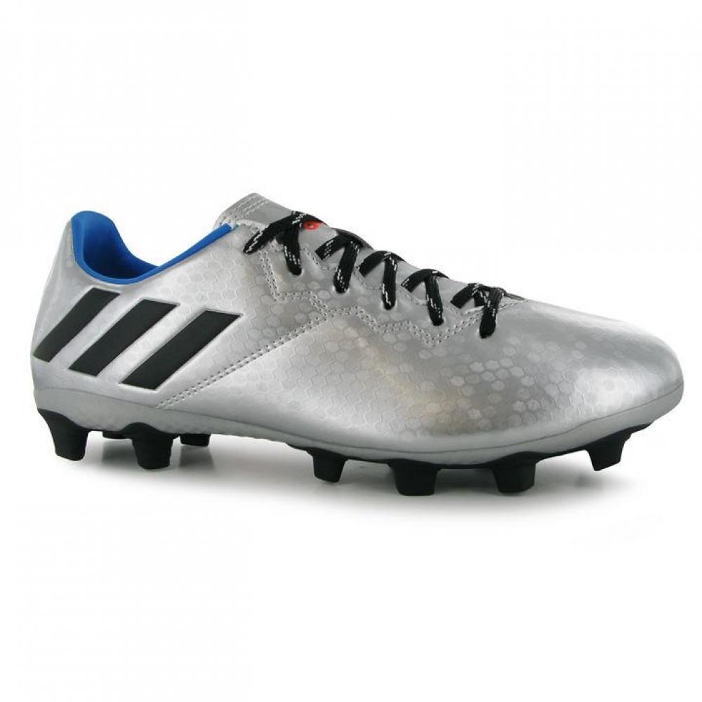 Adidas Messi 16.4 FG Mens Football Boots (Silver-Black)