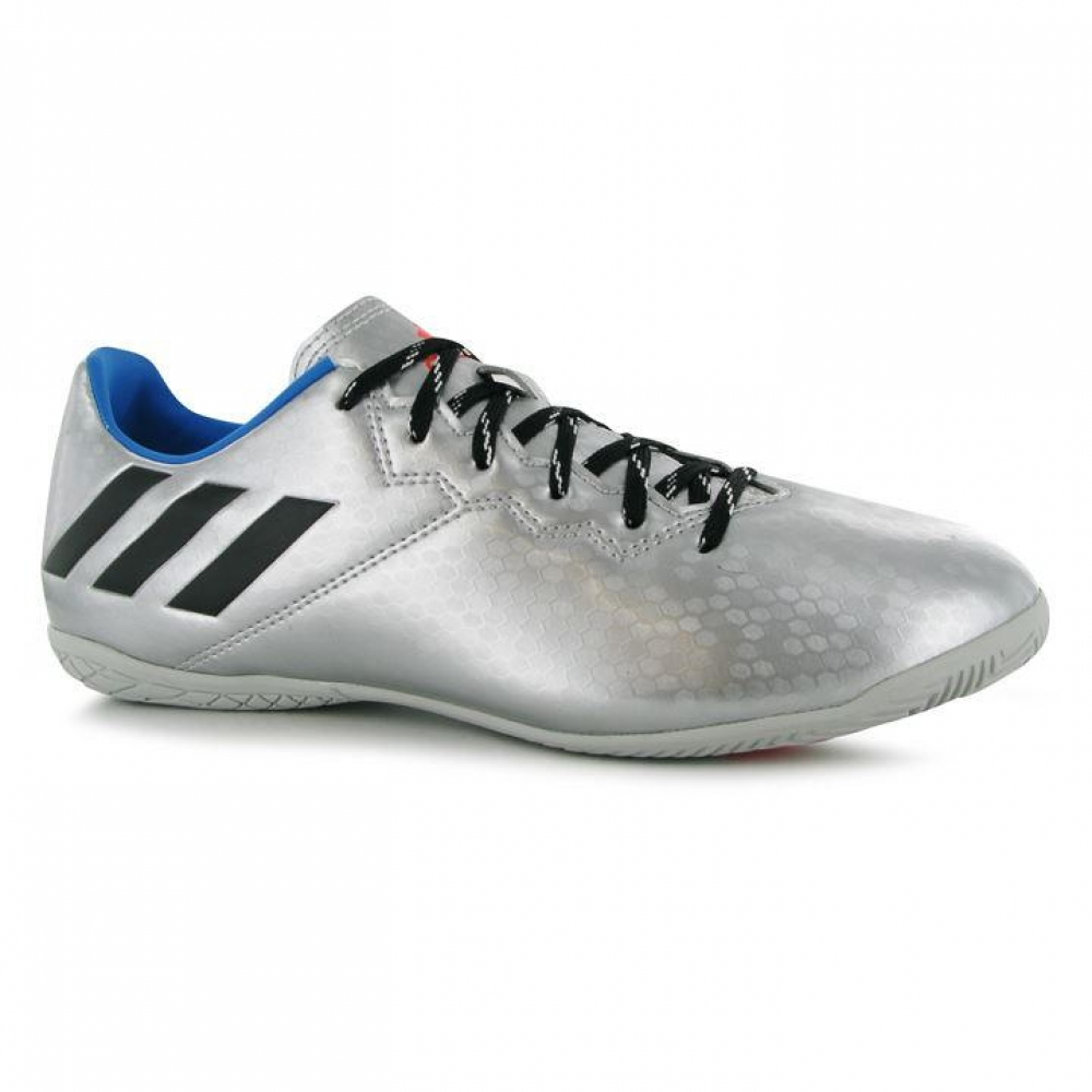Adidas Messi 16.3 Mens Indoor Court Trainers (Silver-Black)
