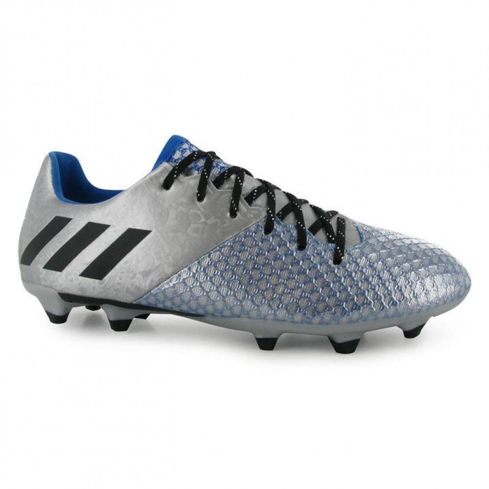 Adidas Messi 16.2 FG Mens Football Boots (Silver-Black)