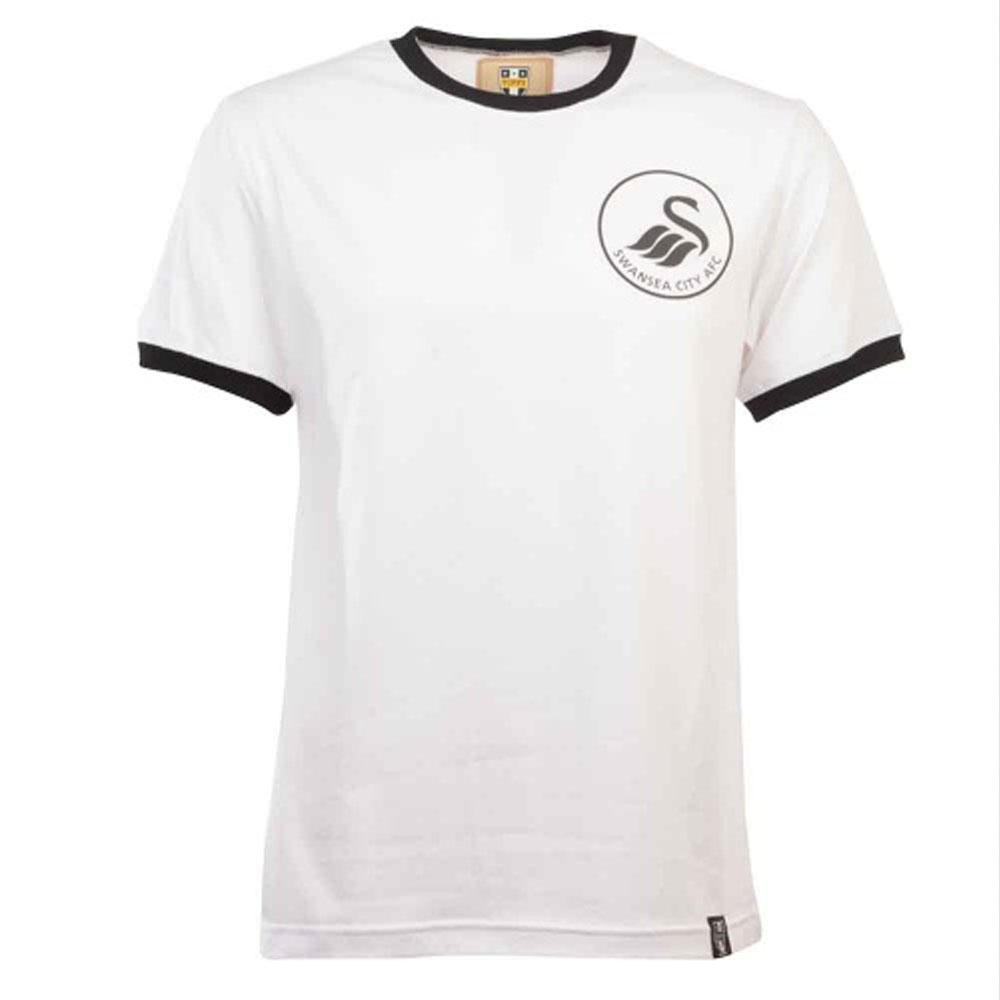 Swansea City 12th Man T-Shirt - Ringer (White/Black)