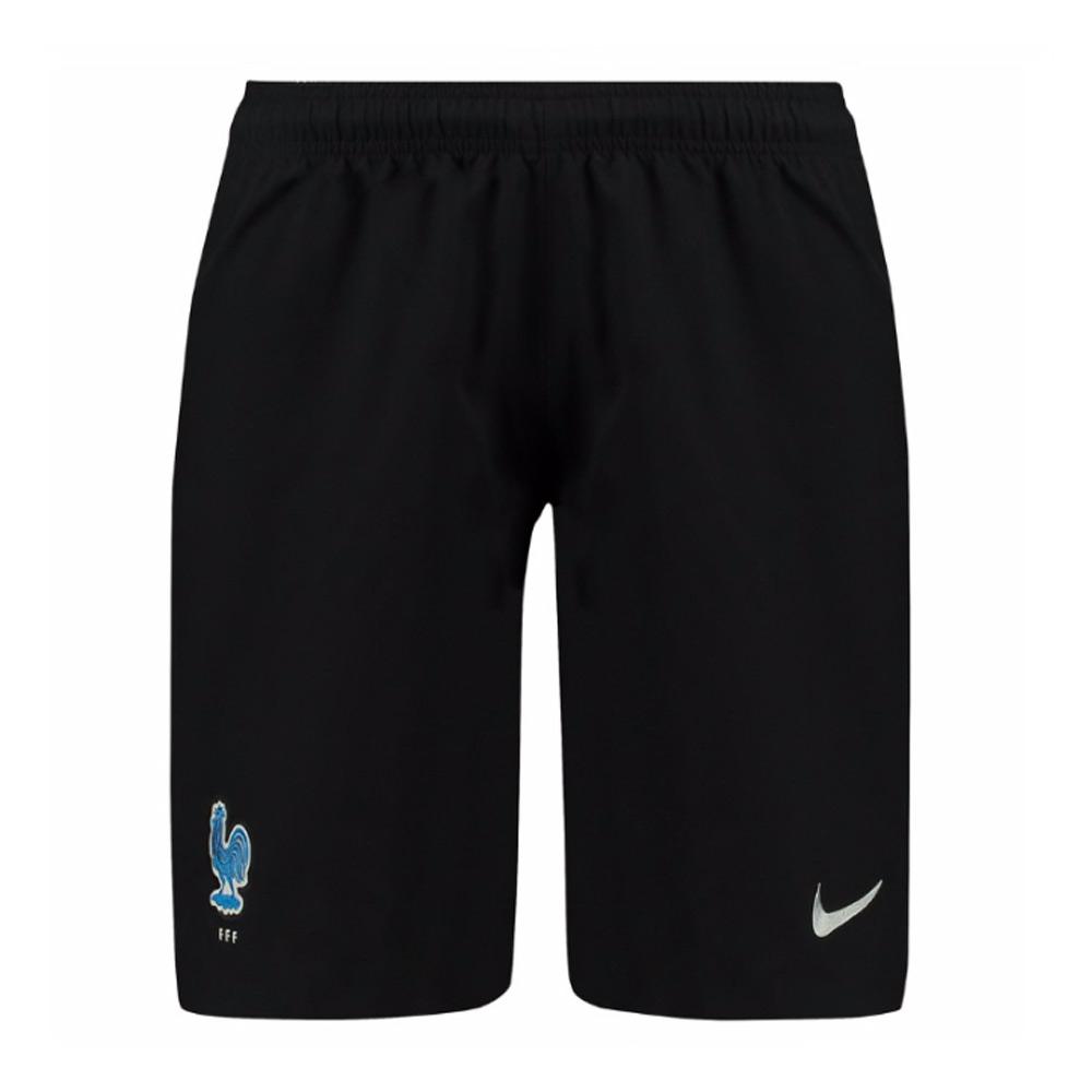 2017-2018 France Nike Away Shorts (Black)