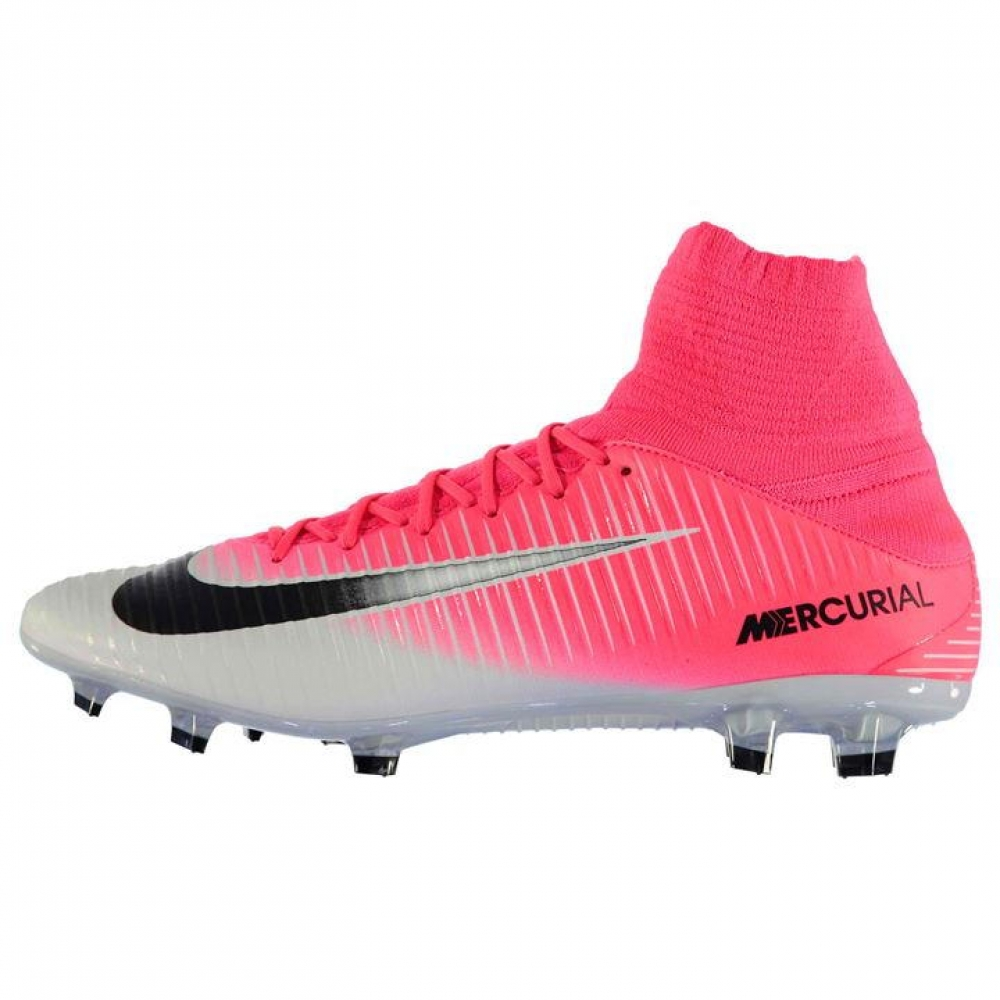 Nike Mercurial Veloce Dynamic Fit FG Mens Football Boots (PinkSilver)