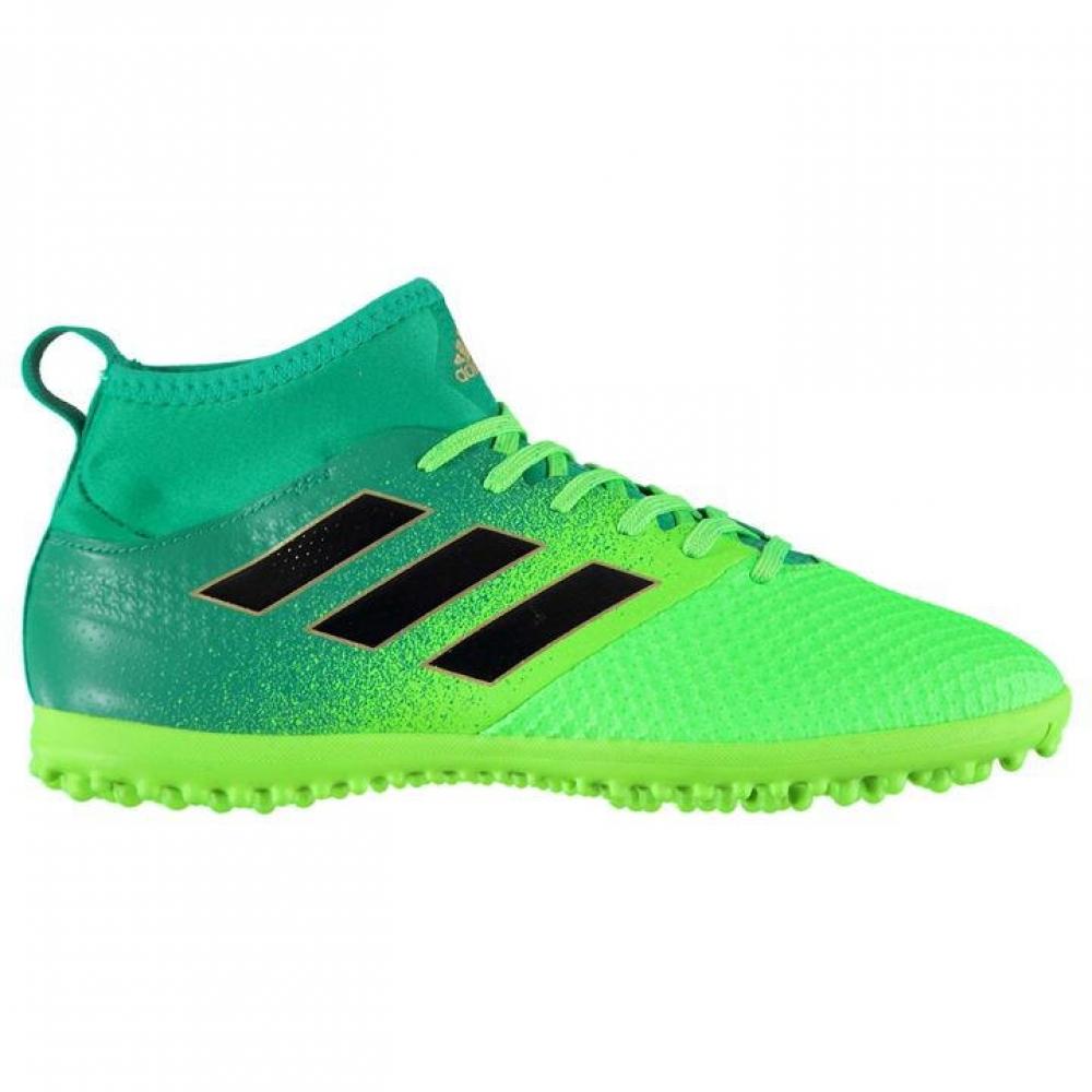 Adidas Ace 17.3 Primemesh Mens Astro Turf Trainers (Solar GreenBlack)