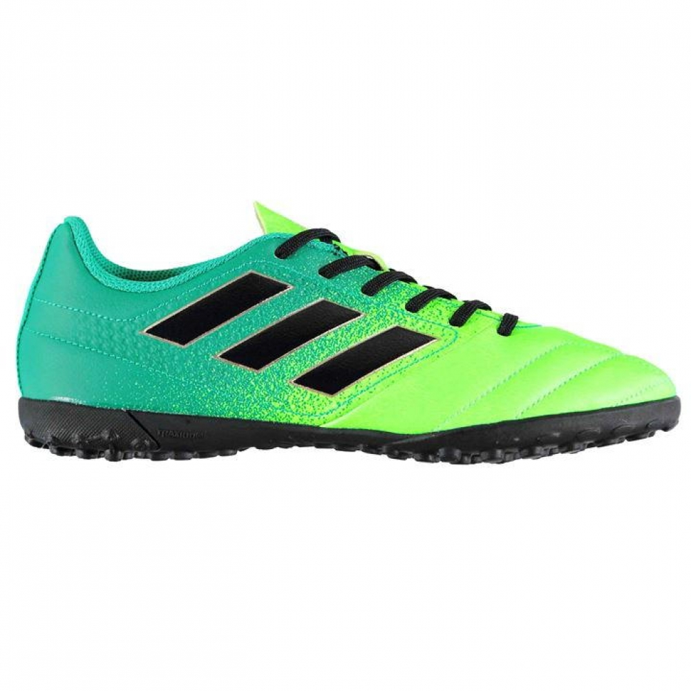 Adidas Ace 17.4 Mens Astro Turf Trainers (Solar GreenBlack)
