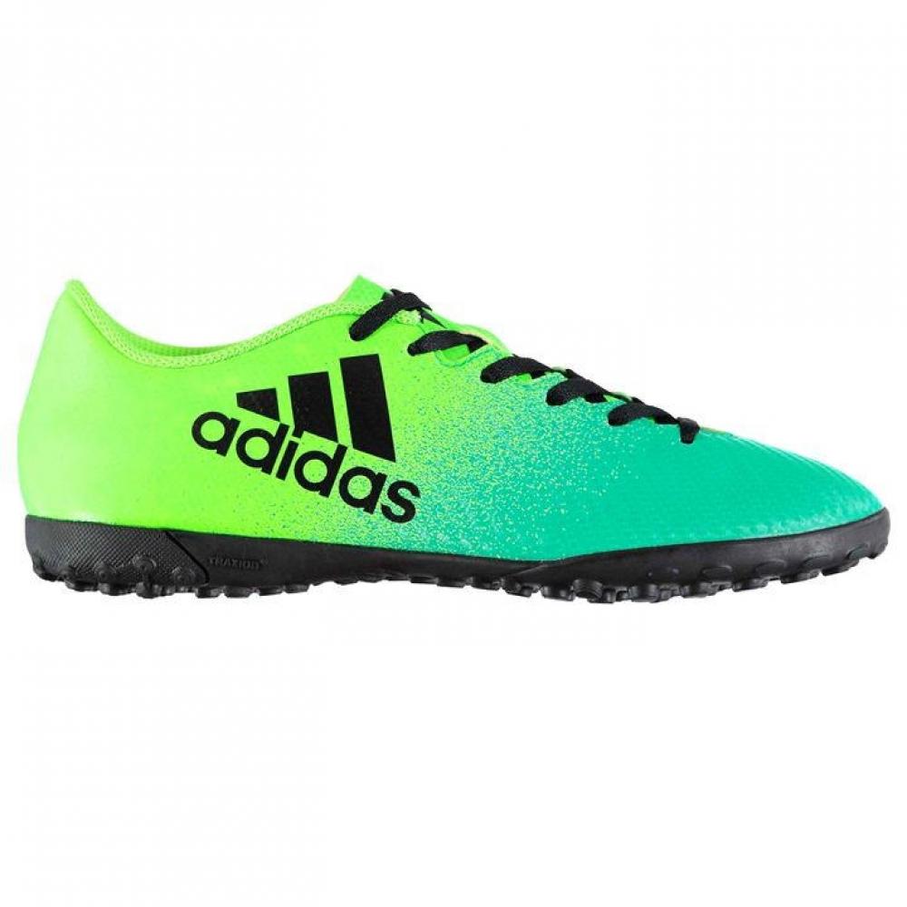 Adidas X 16.4 Mens Astro Turf Trainers (Solar GreenBlack)